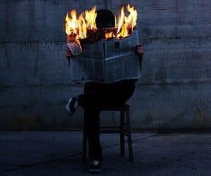 fire, grunge, and dark image
