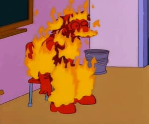 gif, the simpsons, and los simpson image