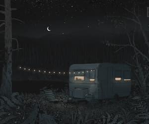 gif, illustration, and nights image