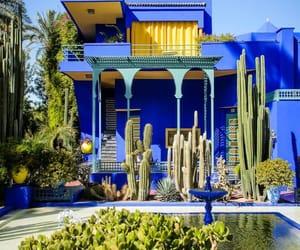 garden, morocco, and house image