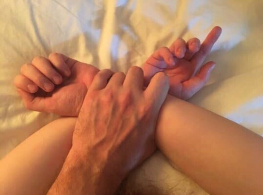 couple, hands, and holding image