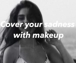 cover, makeup, and sad image