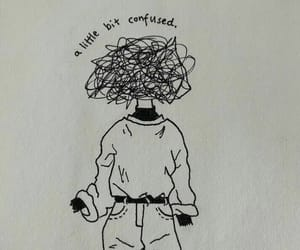 drawing, art, and confused image