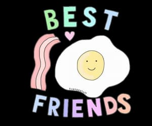 bacon, best friends, and egg image