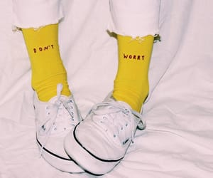 socks, words, and yellow image