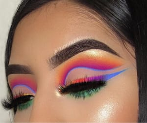 blue, colorfull, and eyeshadow image