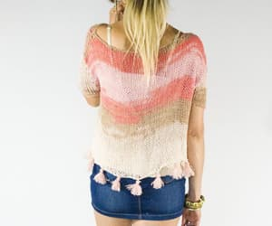 etsy, short sleeve sweater, and cropped fringe top image