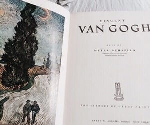 art, van gogh, and book image