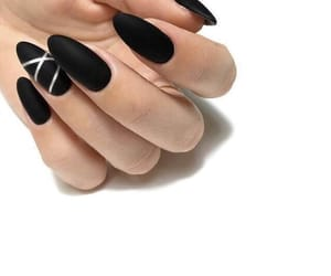 nails, black, and elegant image