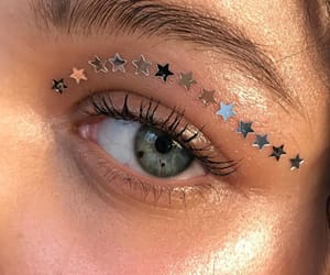 eyes, stars, and makeup image