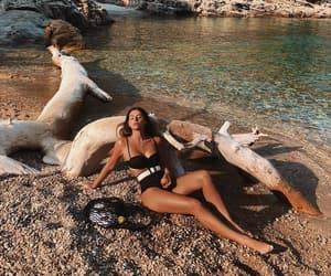 beachwear, high waisted bikini, and bikini image