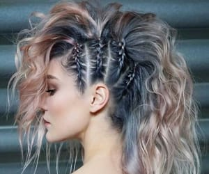 hair, hairstyle, and woman image