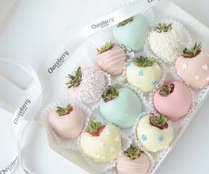 chocolate, strawberry, and dessert image
