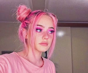 aesthetic, pink hair, and makeup image