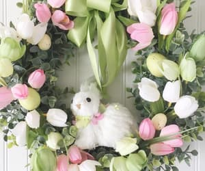 etsy, homedecor, and easter bunny wreath image