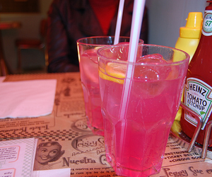 drink, pink, and photography image
