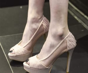 high heels, see-through, and stiletto heels image