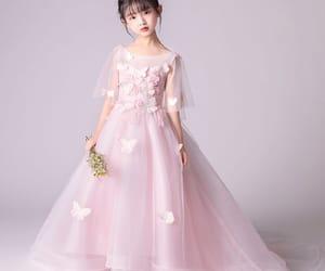 tulle, elegant dress, and flower girl dress image