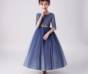 glitter, little girl dress, and navy blue dress image