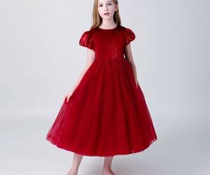 tulle, little girl dress, and flower girl dress image