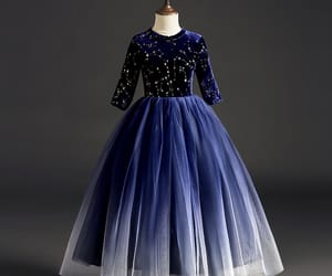 tulle, glitter dress, and starry sky dress image