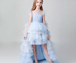 tulle, little girl dress, and sky blue dress image