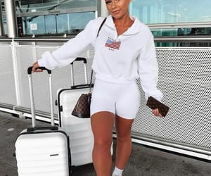 casual, outfit, and airport style image