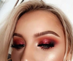 beauty, makeup, and red image