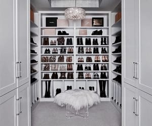 closet, shoes, and home image