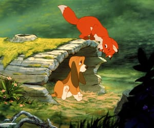 disney, the fox and the hound, and cartoon image