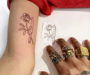 henna, tattoo, and rings image