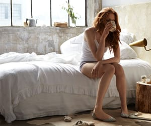 coffee, redhead, and mornings image
