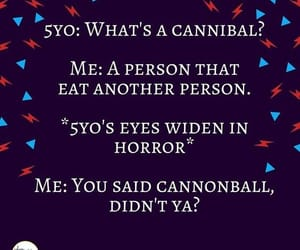 cannibal, kids, and cannonball image