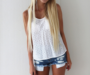 blonde, clothes, and gashion image