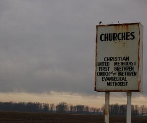church, rural, and sign image