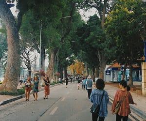 autumn, hanoi, and people image