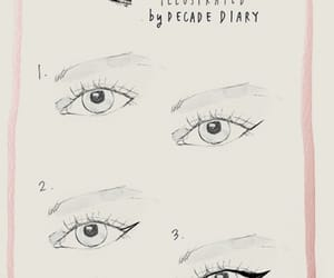 cateye, eyeliner, and makeup image