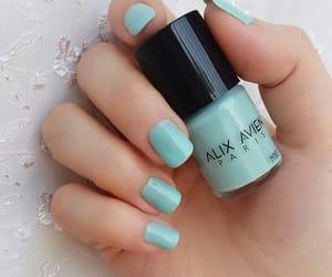green, Vert, and nail polish image