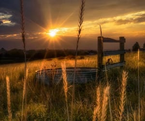 country, farm, and sunset image