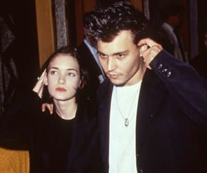 couple, johnny depp, and romance image
