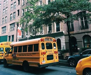 bus, city, and new york image