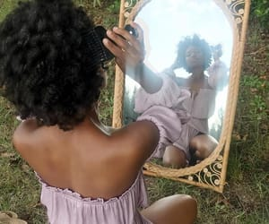 beauty, black women, and mirror image