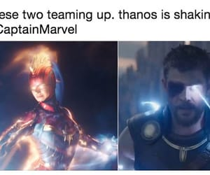 Marvel, thor, and captain marvel image