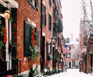 boston, christmas, and snow image
