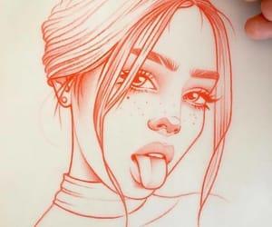 art, drawing, and girl image