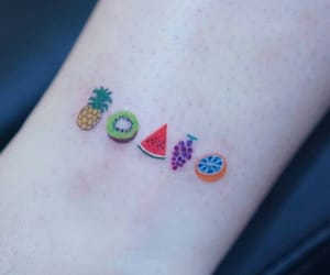 tattoo and fruit image