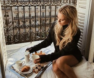 balcony, breakfast, and coffee image