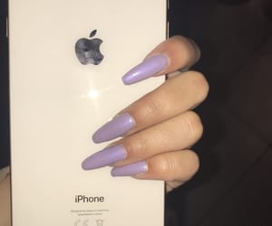 nails, apple, and girl image