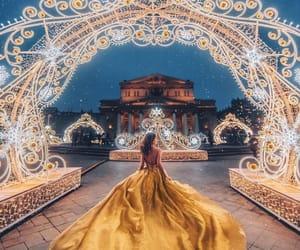 yellow, dress, and light image