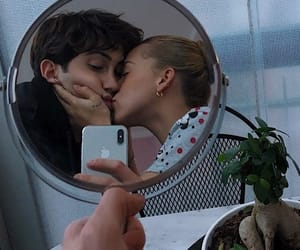 couple, mirror, and weheartit image